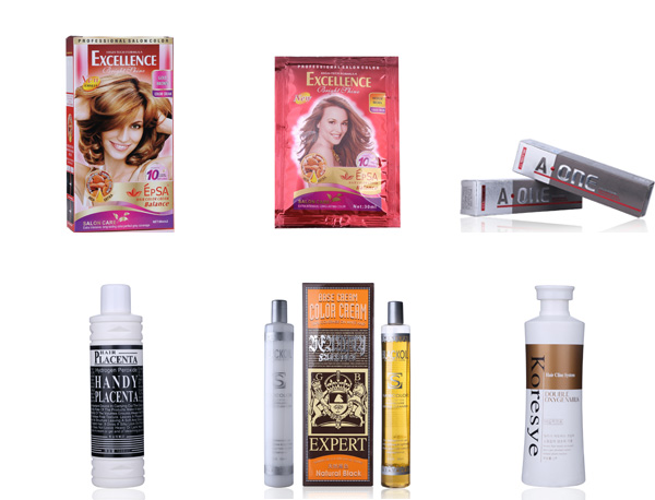 Various formulas Salend hair color brand names