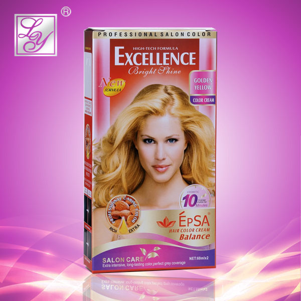 Golden yellow ppd free hair color