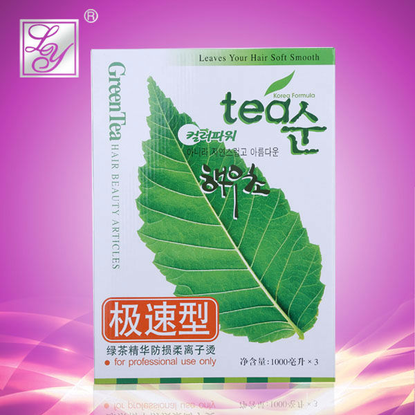Green tea fast natural hair perm