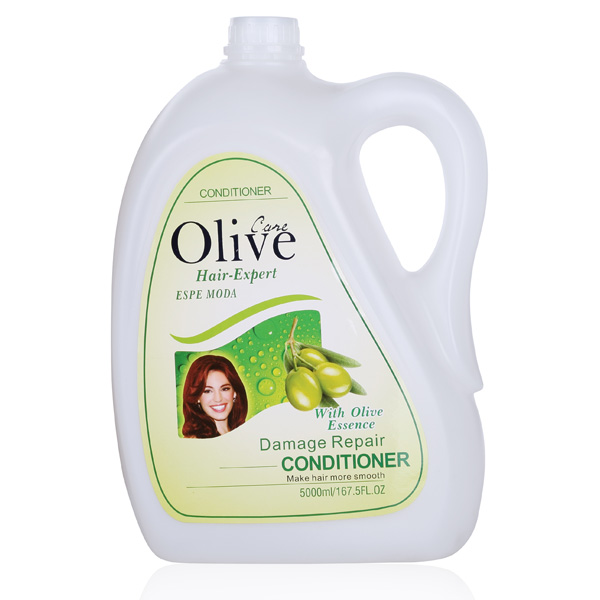 With olive essence shampoo and conditioner for permed hair